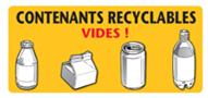 Contenants recyclables vides